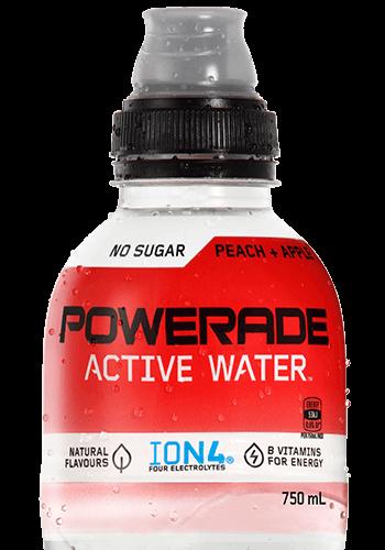 POWERADE ACTIVE WATER Peach & Apple